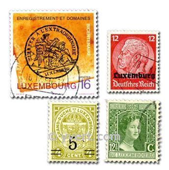 LUXEMBURGO: lote de 300 sellos
