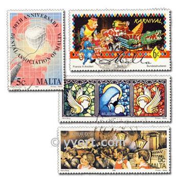 MALTA: lote de 200 sellos