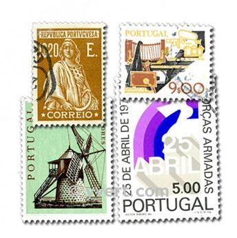 PORTUGAL: envelope of 100 stamps