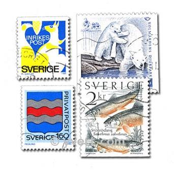 SUECIA: lote de 200 sellos