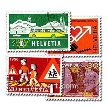 SUIZA: lote de 100 sellos