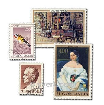 YUGOSLAVIA: lote de 100 sellos