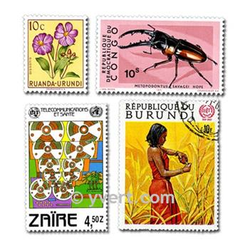 POSESIONES BELGAS: lote de 300 sellos