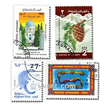 AFGHANISTAN: envelope of 100 stamps