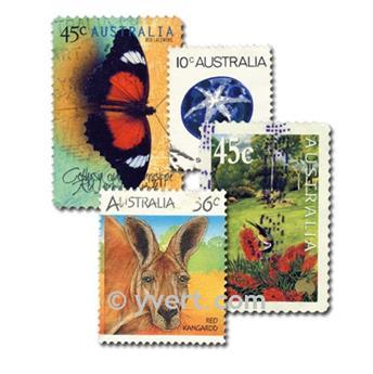 AUSTRALIE : pochette de 100 timbres