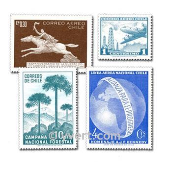 CHILE: Lote de 300 sellos