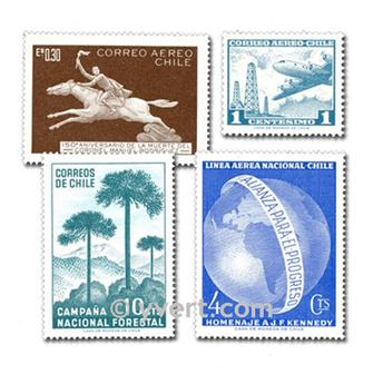 CHILE: lote de 300 selos