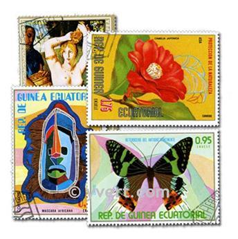 GUINÉ EQUATORIAL: lote de 100 selos