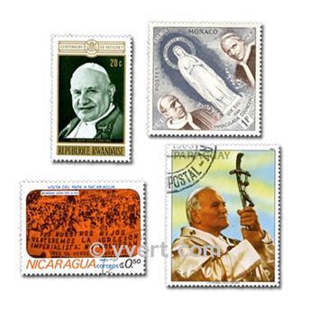 PAPAS: lote de 50 sellos
