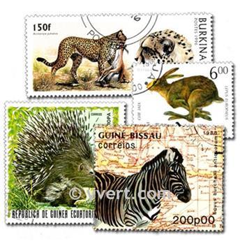 ANIMALES SALVAJES: lote de 300 sellos