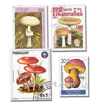 COGUMELOS: lote de 50 selos