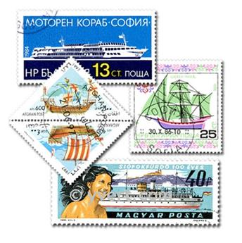 BOATS: envelope of 100 stamps