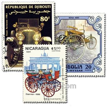 MERCEDES CARS: envelope of 25 stamps