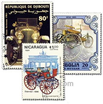 VOITURES MERCEDES : pochette de 25 timbres