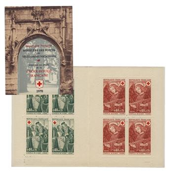 n° 2019a -  Timbre France Carnets Croix Rouge (1970)