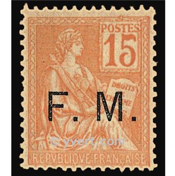 n° 1 -  Selo França Franquia postal