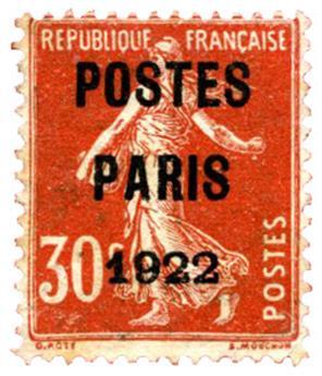 n° 58 -  Selo França Pré-obliterados