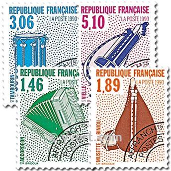 n° 206/209 -  Selo França Pré-obliterados