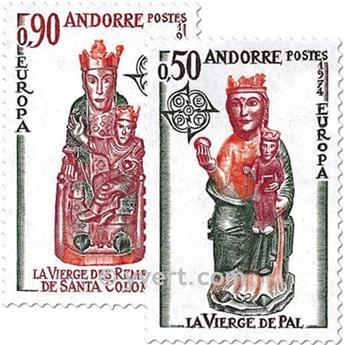 n° 237/238 -  Selo Andorra Correios