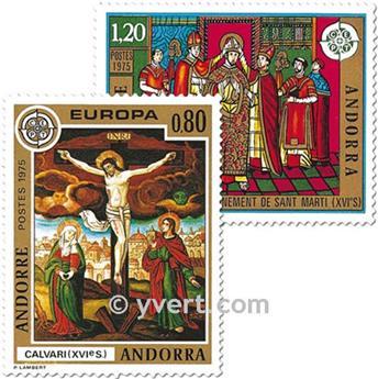 n° 243/244 -  Selo Andorra Correios