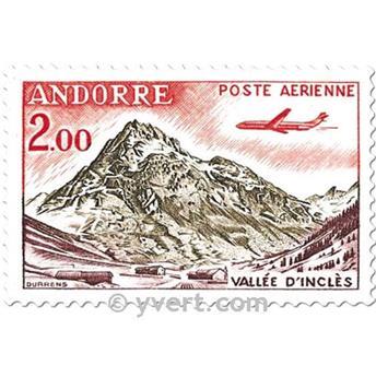 n° 5/8 -  Selo Andorra Correio aéreo