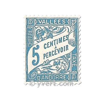 n° 17/20 -  Timbre Andorre Taxe