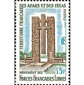 n° 347 -  Selo Afars e Issas Correios