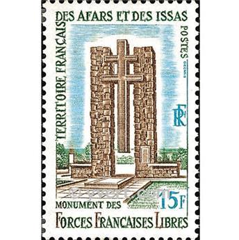 n° 347 -  Timbre Afars et Issas Poste