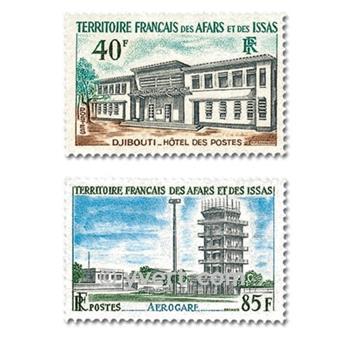 n° 355/356 -  Timbre Afars et Issas Poste