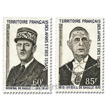 n° 375/376 -  Timbre Afars et Issas Poste