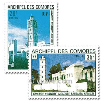 n° 87/88 -  Timbre Comores Poste