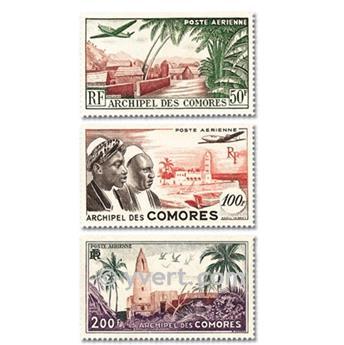 n° 1/3 -  Timbre Comores Poste aérienne