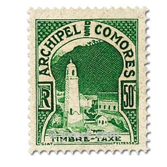 n° 1/2 -  Timbre Comores Taxe