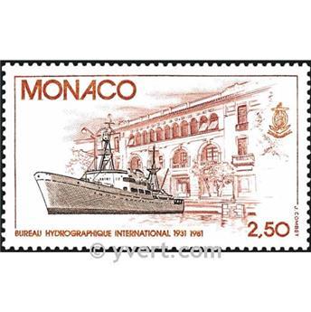 n° 1279 -  Selo Mónaco Correios