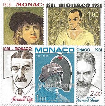 n° 1290/1294 -  Selo Mónaco Correios