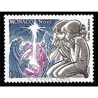 n° 1299 -  Selo Mónaco Correios