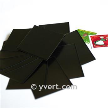 Pochettes simple soudure - Lxh:24x40mm (Fond noir)