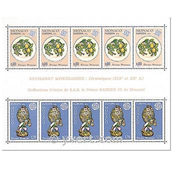 n° 12 -  Selo Mónaco Blocos e folhinhas