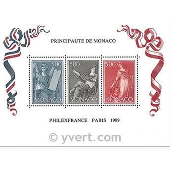 n.o 47 -  Sello Mónaco Bloque y hojitas