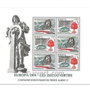nr. 65 -  Stamp Monaco Souvenir sheets