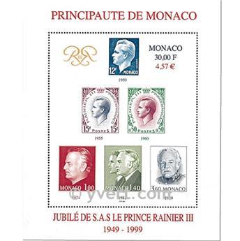 n.o 83 -  Sello Mónaco Bloque y hojitas