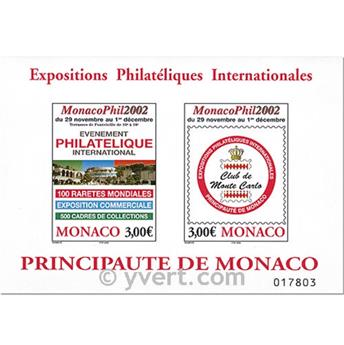n.o 88 -  Sello Mónaco Bloque y hojitas