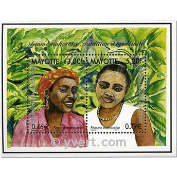n.o 3 -  Sello Mayotte Bloques y hojitas