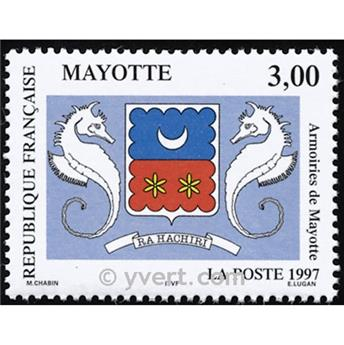 n.o 43 -  Sello Mayotte Correos