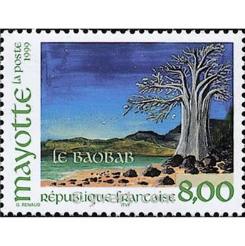 n° 75 -  Timbre Mayotte Poste