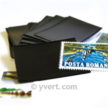 Pochettes double soudure - Lxh:256x54mm (Fond noir)