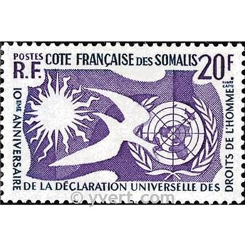 n.o 291 -  Sello Somalia francesa Correos