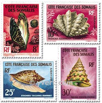 n° 311/314 -  Selo Somalilândia Francesa Correios