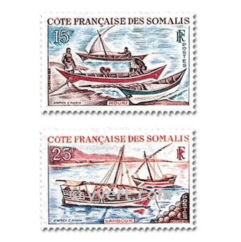 n° 320/321 -  Selo Somalilândia Francesa Correios
