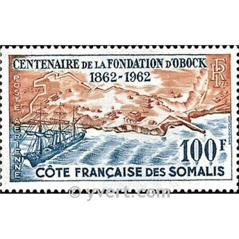 n.o 30 -  Sello Somalia francesa Correo aéreo